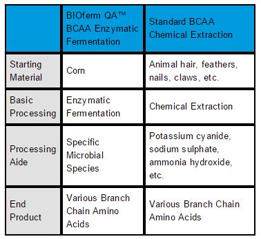 Fermented vs BCAA